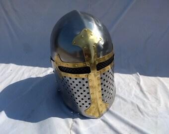 Medieval Sugarloaf helmet for hard fighting HMB Arnour Helmet