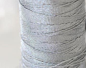 Metallic silver thread 0.8mm - 1 meter