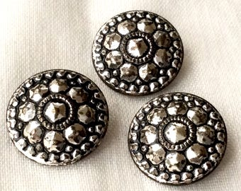 Antique Buttons, Victorian Buttons, Steel Cut Buttons, Vintage Buttons, Metal Buttons, Cut Steel Buttons, Buttons Vintage
