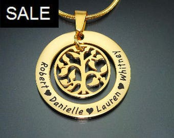 Gold Tree Necklace, Gold Family Tree, Gold Family Tree necklace, Personalized My Family Tree Necklace Only 79.20