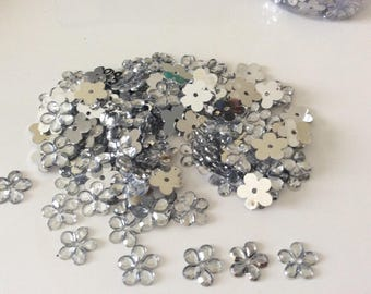 Rhinestone embellishment scrapbooking 9 mm silver color