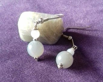 Moonstone earrings.