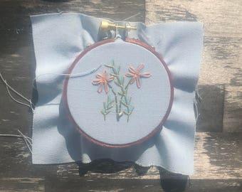 Floral #1 embroidery hoop