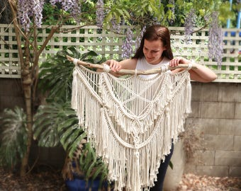 Large macrame wall hanging 'Drew""
