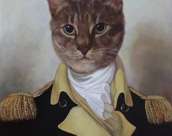 Custom cat portrait, Custom pet painting, Custom Cat portrait, Commission Cat painting, Commission pet portrait , Commission pet painting