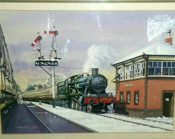 Original Watercolor Painting GWR Railways by Frederick Lea 1 of 4 (500044)