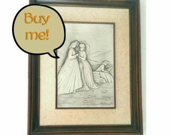 Collectible Ottaviani Vintage Framed Silver Engraving depicting Victorian Women (500044)