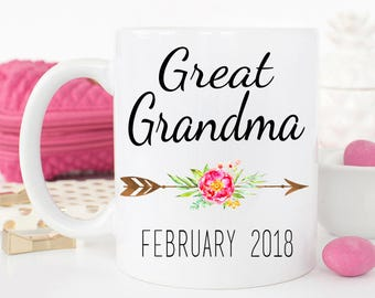 Great Grandma Mug, New Great Grandma mug, Gift for new Great grandma, Grandparents gift, Great Grandma Mug, Pregnancy Reveal, Gift for mom