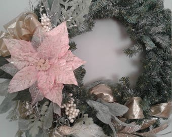 Christmas Poinsettia Wreath