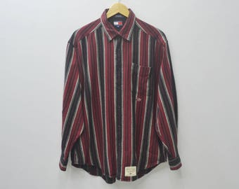 TOMMY HILFIGER Shirt Tommy Hilfiger Vintage Motorcycling Button Down Casual Tee T Shirt Size L
