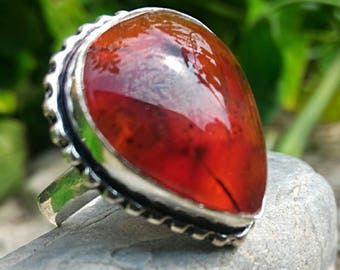 T 61.75 or US 9.75 carnelian ring, also hunt nightmares.