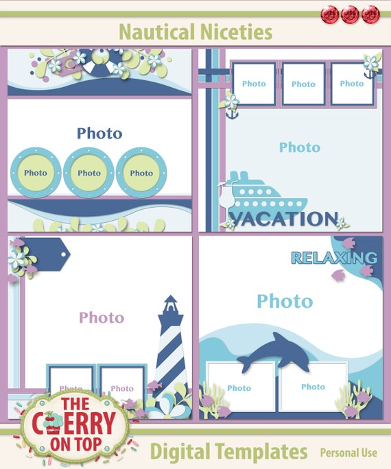 Nautical Niceties Scrapbooking Templates
