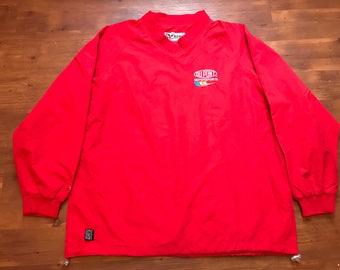 Vintage windbreaker jacket Jeff Gordon 24 Dupont sports red rain resistant vintage NASCAR Racing sweater
