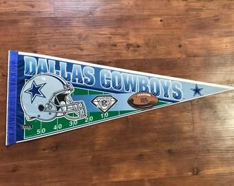 Vintage Dallas Cowboys Pennant 1990's NFL Memorabilia