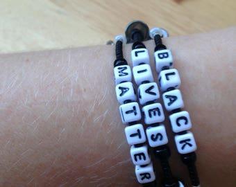 Black Lives Matter Wrap Bracelet