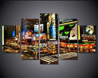 Times square canvas Art, Times Square Wall Art, Times square Canvas Print, Times Square Painting, Times Square Wall decor