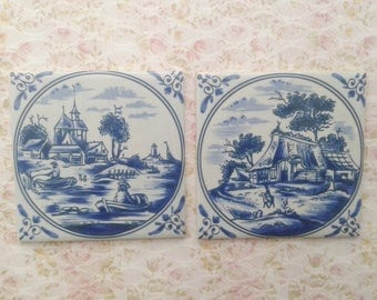 Royal Goedewaagen Holland, two tiles
