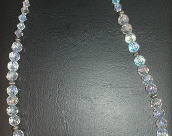 Blue stone and beaded necklace
