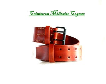 Military army leather belt