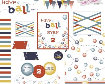 Have a Ball Birthday Party Printable Package