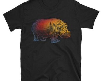 Love Hippo Short-Sleeve Unisex T-Shirt Colorful