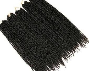Black Crotchet  Braiding Hair 18''