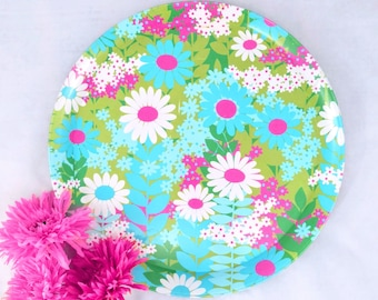 Daisy Metal Serving Tray