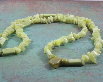 Light Jade- Weeping Willow Necklace