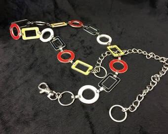 Vintage Mod Enamel Chain belt