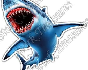 Jaws Sticker Etsy