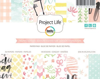 """Project Life 6x6"""" Inspired Edition Paper Pad"""