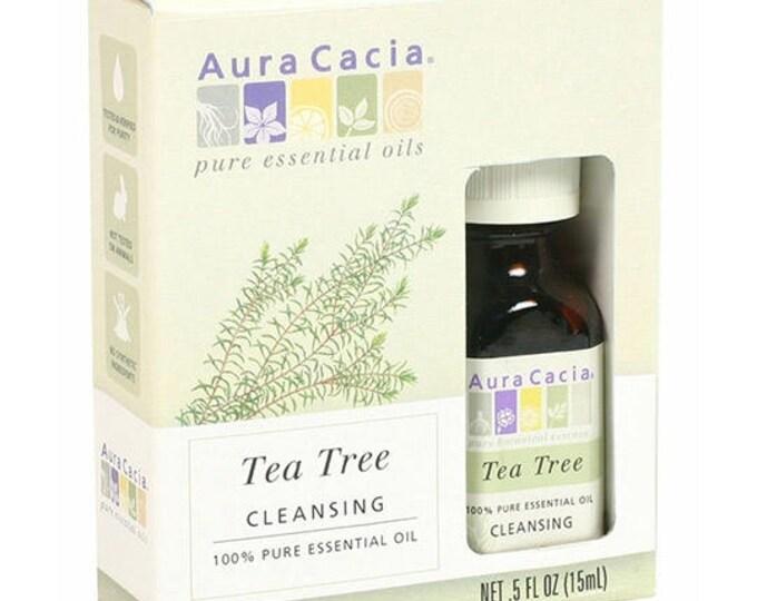 Aura Cacia Tea Tree Essential Oil (BOXED) 0.5 FL. OZ.