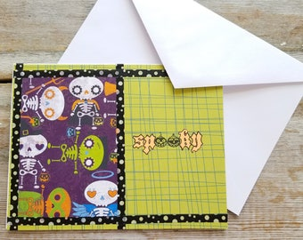 Spooky Cards - Halloween Card - Spooky Halloween Card - Halloween Greeting Cards - Cute Spooky - Cute Halloween Card - Colorful Card