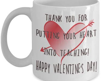 Valentine Gift for Teacher Best Teacher Ever Gifts - Valentine's Day - Coffee Lovers Mug - Gifts Under 20 - Gift For Her - Gifts For Him