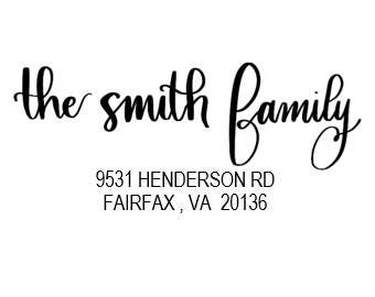 Custom Calligraphy Wedding Address Envelopes Template