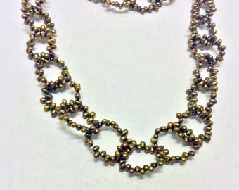 germau studio pearl links necklace #9