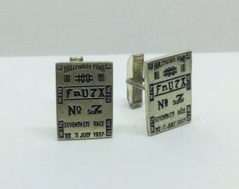 Fenwick & Sailors Sterling Silver Hollywood park cufflinks  #141