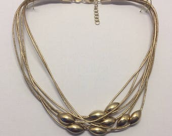 sterling silver leather necklace #5
