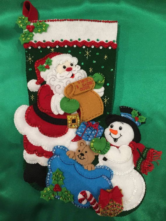 Santa Claus Felt Stockings Bucilla Designs Page Three