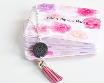 Cards and Necklace Combination