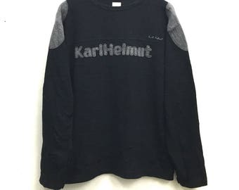 Karl Helmut sweatshirt spell out XL size
