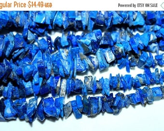 Awesome!!~ 100% Natural Smooth Lapis Lazuli Nuggets Shape Rough Beads 4x4mm 26x28mm Approx  16''Inch Top Quality