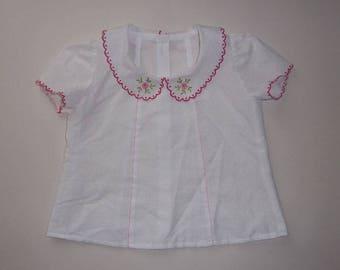 2years cotton Peter Pan collar blouse
