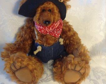 Jethro. Mohair OOAK collectable teddy bear