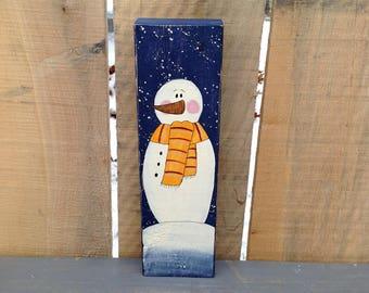 Snowman Shelf Sitter | Snowman Decor | Winter Decor