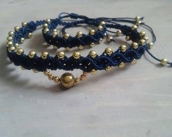 Macrame Choker with Bracelet