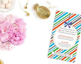 Rodan + Fields Merry KISSmas Lip treats Business Card - Christmas Card - RF Marketing - Advertising - Independent Consultant Resources
