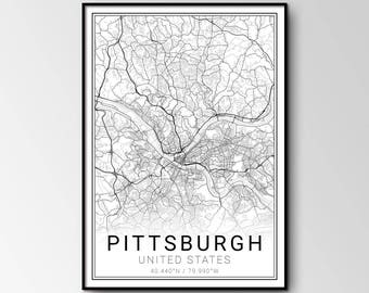 Pittsburgh city map