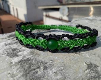 Macrame bracelet jade