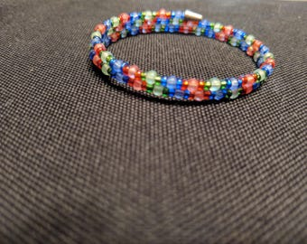 Multi Color Memory Wire Bracelet